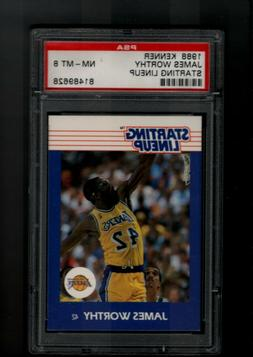 1988 STARTING LINEUP JAMES WORTHY LOS ANGELES LAKERS  PSA 8