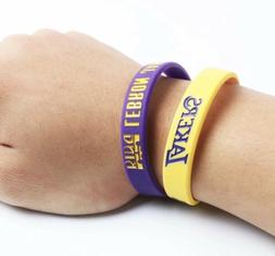 2 Pack Los Angeles Lakers LeBron James Bracelets Wristband S