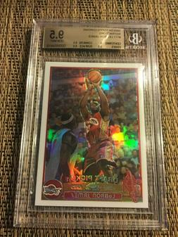2003-04 LEBRON JAMES TOPPS CHROME ROOKIE RC REFRACTOR BGS 9.