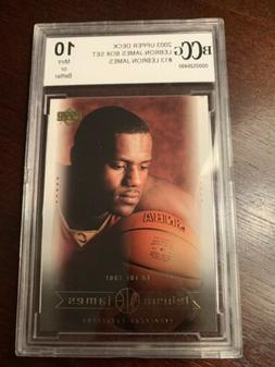 2003 Upper Deck Lebron James Rookie Boxed Set #13 Graded Gem