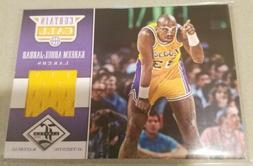 2012 Panini Limited Kareem Abdul-Jabbar Curtain Call 03/25!