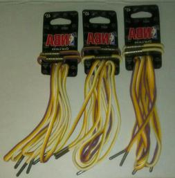 """3 Pair Los Angeles Lakers Shoe Laces 45"""" Official NBA Oval P"""