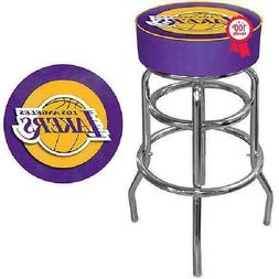 31 Inch NBA Los Angeles Lakers Padded Swivel Bar Stool Dinin