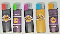 5 Los Angeles Lakers Lighters Assorted Designs Refillable Bu