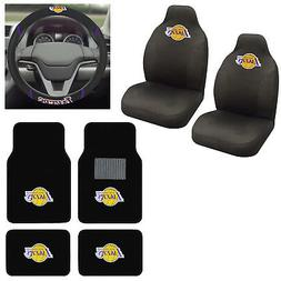 7pc NBA Los Angeles Lakers Car Truck Seat Covers Floor Mats
