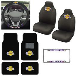 8pc NBA Los Angeles Lakers Car Truck Seat Covers Floor Mats