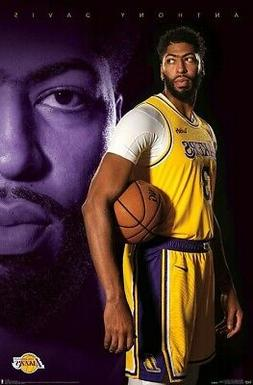 ANTHONY DAVIS - LOS ANGELES LAKERS POSTER - 22x34 - NBA BASK