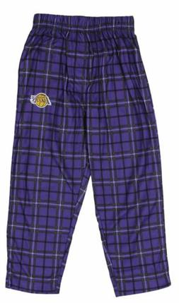 NBA Basketball Kids Los Angeles Lakers Plaid Pajama Pants -
