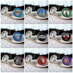 Basketball team new mens silver cufflinks set in box for wed
