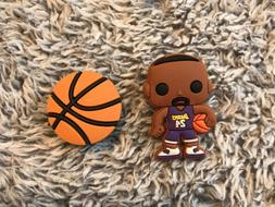 Croc Charms   JIBBITZ - Kobe Bryant #24,  Los Angeles Lakers