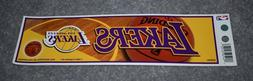 Rico Industries BS82001 Bumper Sticker - Los Angeles Lakers
