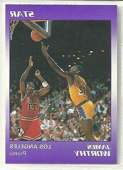 James Worthy 1990 Star Company Los Angeles Lakers Promo Card