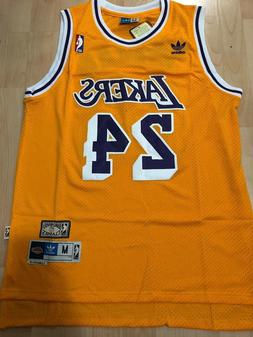 Kobe Bryant #24 Los Angeles Lakers Vintage Yellow Throwback