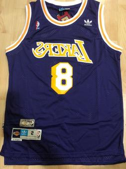Kobe Bryant #8 Los Angeles Lakers Vintage Purple Throwback M