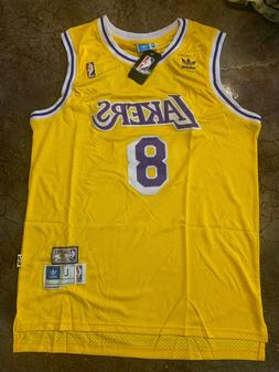 Kobe Bryant #8 Los Angeles Lakers Yellow Men's Jersey
