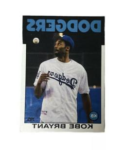 Kobe Bryant Los Angeles Dodgers Lakers Trading Card 1986 Top