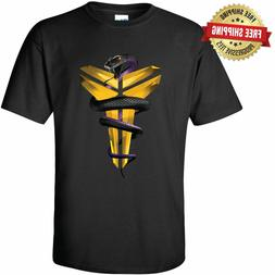 Kobe Bryant Los Angeles Lakers Unisex T-Shirt Black Mamba Sn