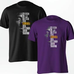 Kobe Bryant T-Shirt - Los Angeles LA Lakers Black Mamba Shir