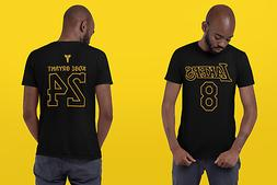 KOBE BRYANT T SHIRT Tee Black Mamba Los Angeles Lakers 8 24