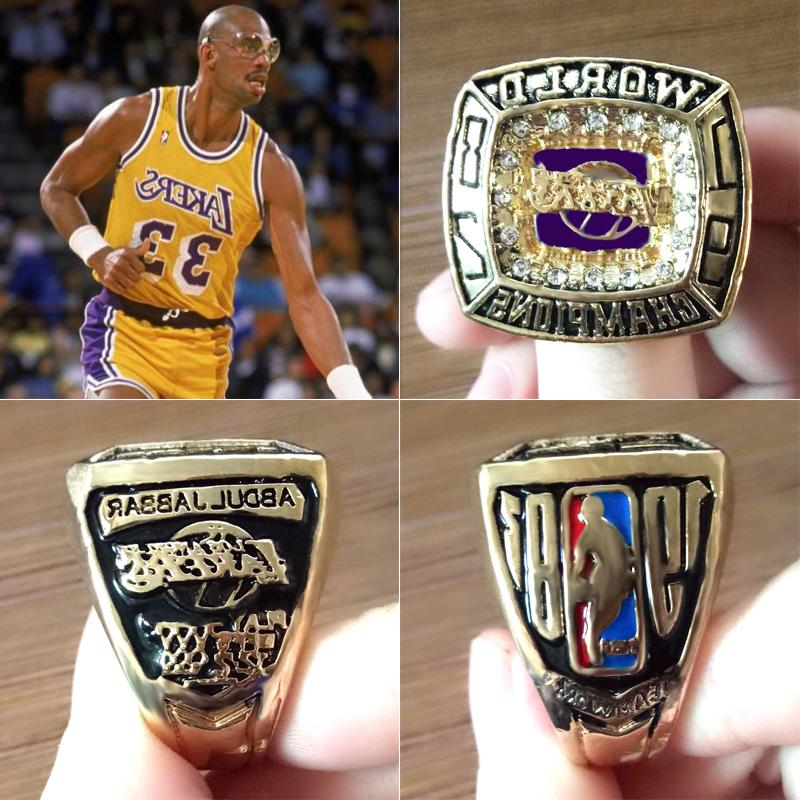 1982 los angeles lakers championship ring abdul