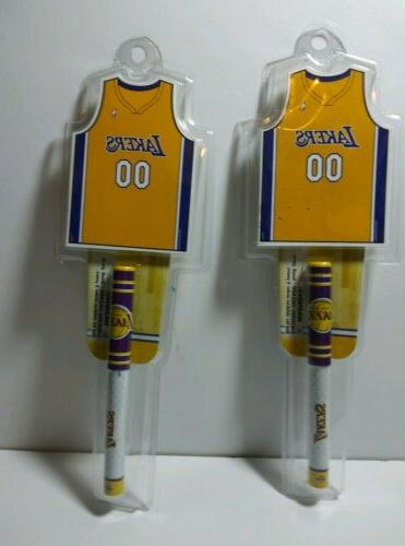 2 los angeles lakers notepad and penset