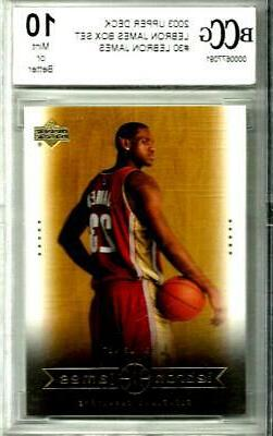 2003 LeBron James Rookie Upper Deck # 30 Box Set Graded Gem