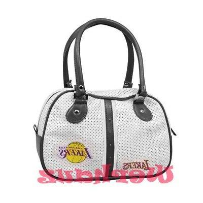 authentic los angeles lakers handbag bowlers white