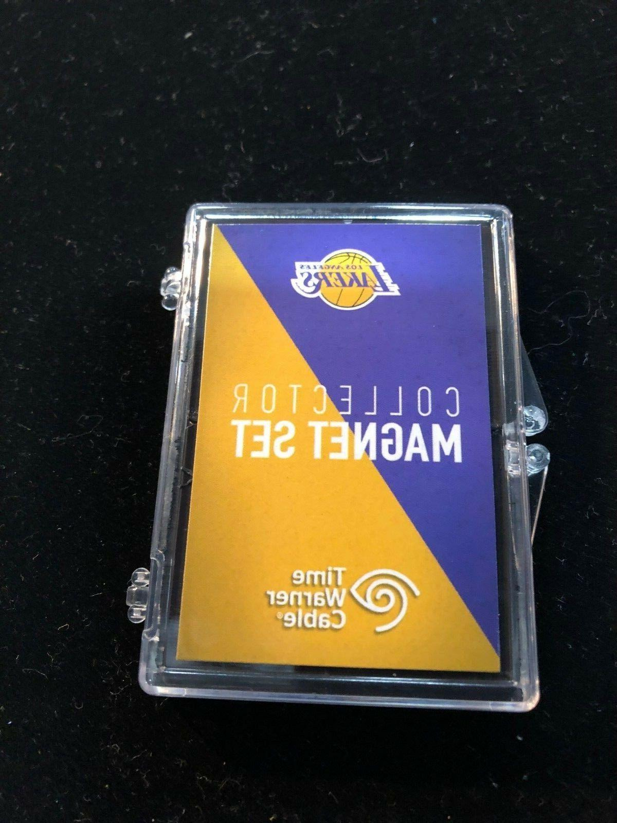 los angeles lakers 3 piece collector magnet