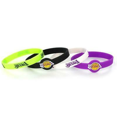 los angeles lakers bracelets 4 pack silicone