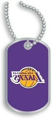 Los Angeles Lakers Domed Dog Tag Necklace