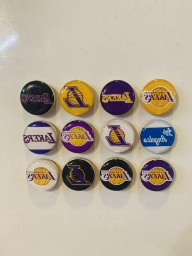 los angeles lakers magnets set of 12