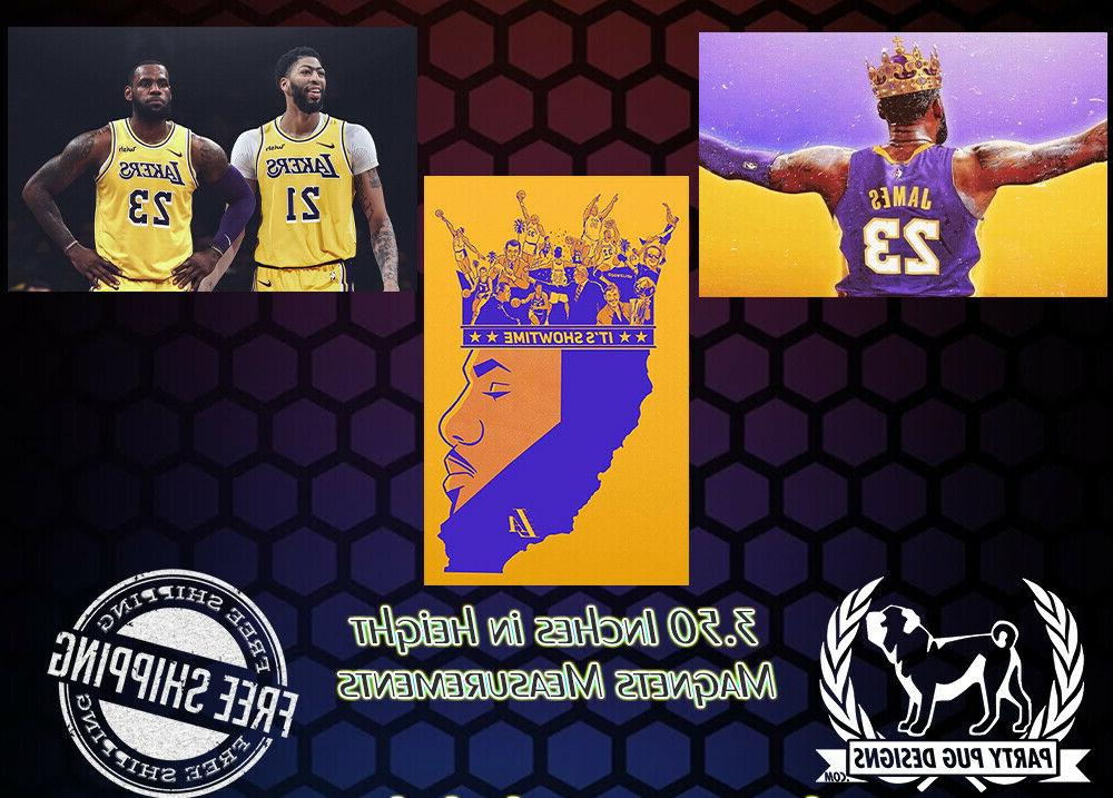 los angeles lakers magnets set of 3