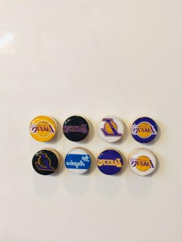 los angeles lakers magnets set of 8