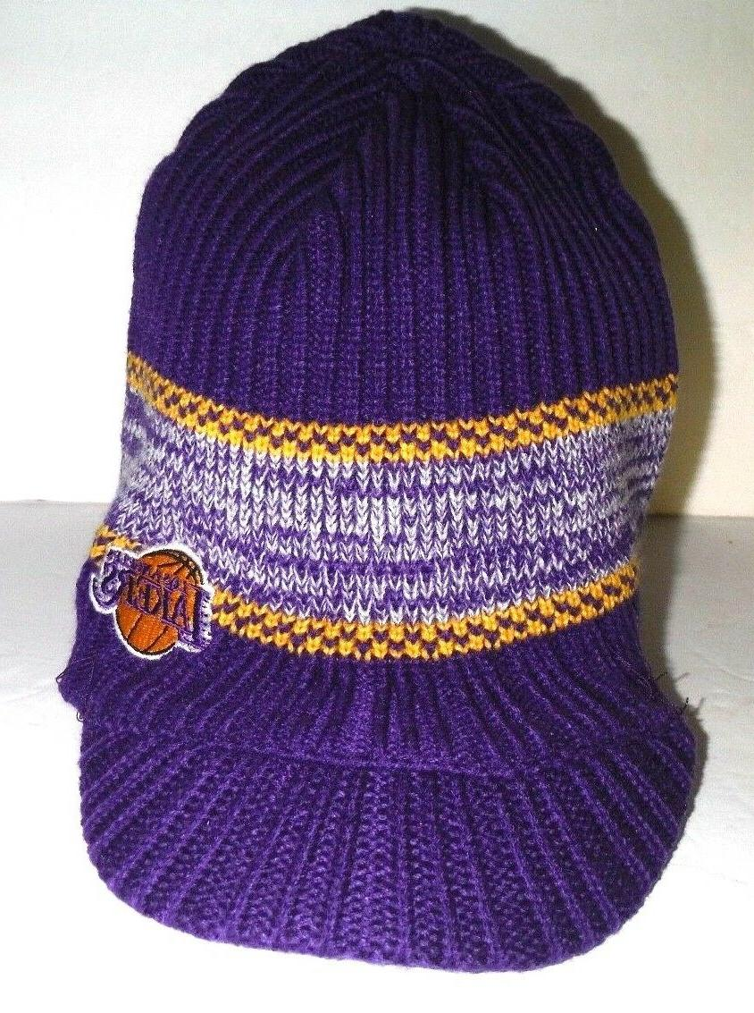 los angeles lakers new authentic beanie visor