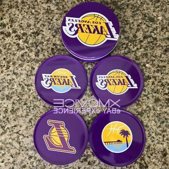 NEW OFFICIAL LAKERS WITH SET DRINK COASTERS