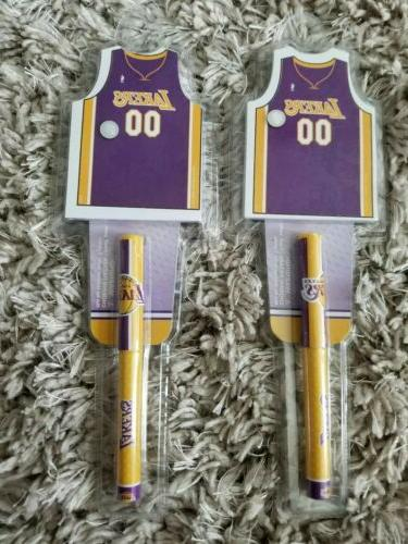 set of 2 los angeles laker notepad