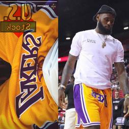 LAKERS Basketball Team Shorts Lebron James Summer League Siz