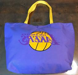 Lakers Canvas Tailgate Large Tote Bag Los Angeles Basketball