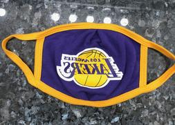 Lakers Face Mask Cover, Reusable, Washable, Los Angeles Lake