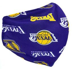 Lakers Logo Repeat Los Angeles Sport Face Mask Shield Double