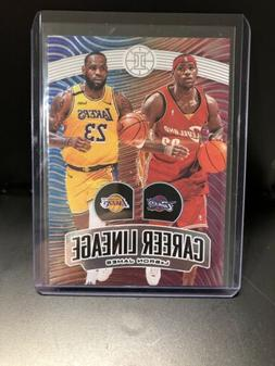 LEBRON JAMES 2019-20 Illusions Career Lineage SP Insert Cavs