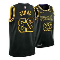 LeBron James LBJ Los Angeles LA Lakers Black Basketball Jers