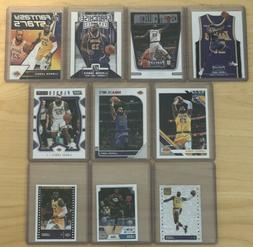 LEBRON JAMES Los Angeles Lakers 11 Card Lot - Threads, Hoops
