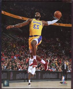 LeBron James Los Angeles Lakers Windmill Dunk 8x10 photo wit