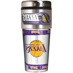 LOS ANGELES LA LAKERS 16 OZ STAINLESS STEEL COFFEE TRAVEL MU