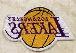 "Los Angeles LA Lakers Gold Basketball 3.25"" Iron On Embroide"