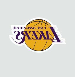 Los Angeles LA Lakers NBA Basketball Color Sports Decal Stic
