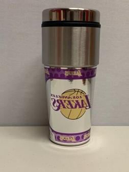 LOS ANGELES LA LAKERS STAINLESS STEEL COFFEE TRAVEL MUG With