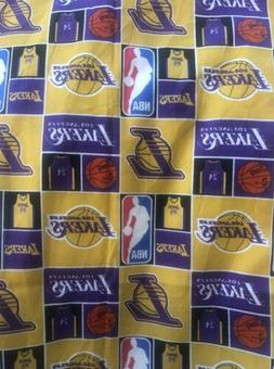 Los Angeles Lakers 1/4 Yard Lakers Poly  Cotton Fabric