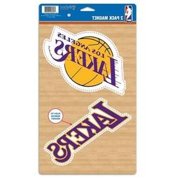 LOS ANGELES LAKERS 2 PACK OF VINYL DIE-CUT MAGNETS HIGH QUAL